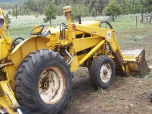 Backhoe for farming tractor
